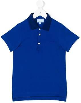 Lanvin Enfant contrast collar polo shirt