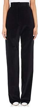 Cédric Charlier Women's Cotton-Blend Corduroy Wide-Leg Trousers