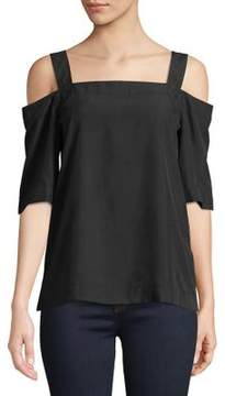 Calvin Klein Jeans Squareneck Cold-Shoulder Top