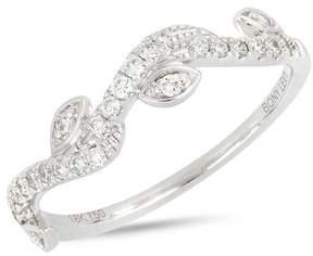 Bony Levy 18K White Gold Pave Diamond Marquise & Wavy Ring