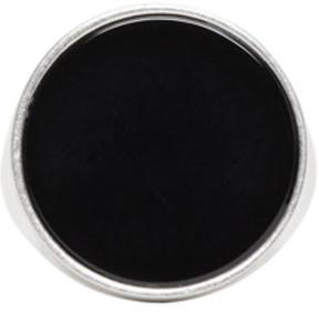 Maison Margiela Silver and Black Circle Ring