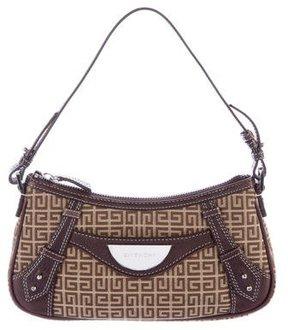 Givenchy Leather-Trimmed Shoulder Bag