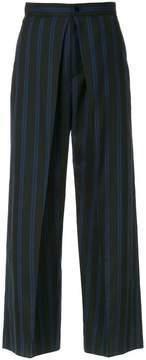ASTRAET pleat front striped cropped trousers