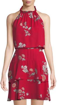 BB Dakota Cadence Floral-Print Halter Popover Dress