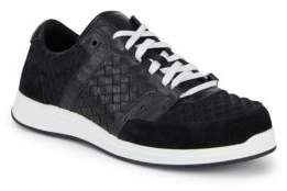 Bottega Veneta Embossed Low Top Sneakers