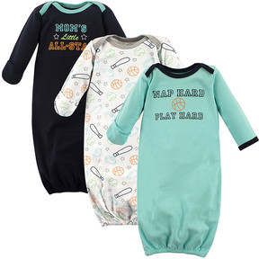 Luvable Friends Blue Sports Gown Set - Newborn