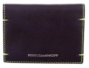 Rebecca Minkoff Leather Coin Pouch - PURPLE - STYLE