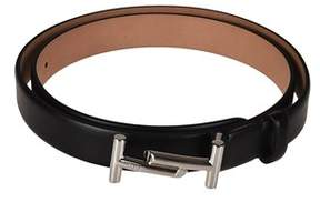 Tod's Women's Black Leather Belt.