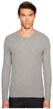 ATM Anthony Thomas Melillo Long Sleeve Rib Henley Men's Clothing