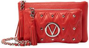 Mario Valentino Valentino by Women's Yanetd Sauvage Leather Shoulder Bag