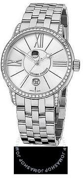 Ulysse Nardin Classico Luna Silver Dial Stainless Steel Diamond Men's Watch