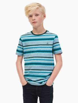 Calvin Klein boys multi stripe t-shirt