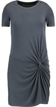 Enza Costa Knotted Stretch-Jersey Mini Dress