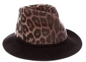 Stella McCartney Cheetah Print Fedora Hat