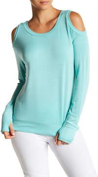 Trina Turk Lattice Back Cold Shoulder Shirt