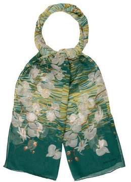 Judith Leiber Floral Print Scarf
