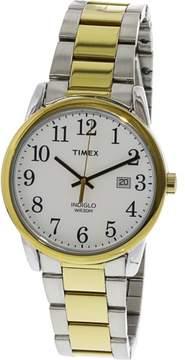 Timex Men's Easy Reader TW2R23500 Silver Stainless-Steel Analog Quartz Dress Watch