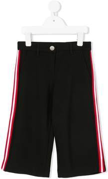 Givenchy Kids cropped side stripe trousers