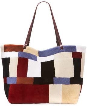 The Row Patchwork Fur Shopper Tote Bag