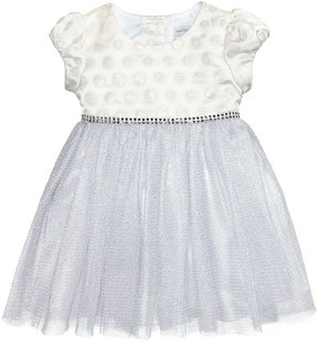Sweet Heart Rose Jacquard & Mesh Dress, Baby Girls (0-24 months)