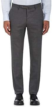 Incotex Men's Wool-Blend Plain-Weave Trousers