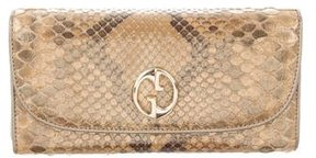 Gucci Metallic Python Wallet - BROWN - STYLE