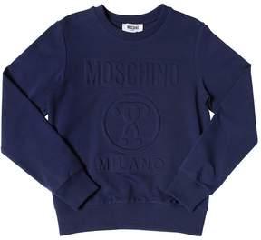 Moschino Embossed Logo Cotton Sweatshirt