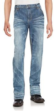Affliction Cotton Blend Faded Jeans