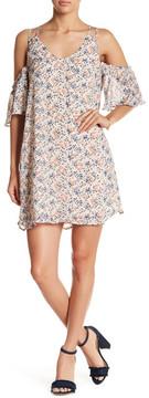 Chelsea28 Cold Shoulder Print Dress