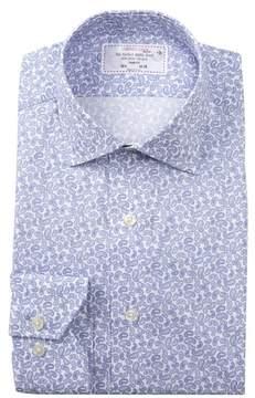 Lorenzo Uomo Paisley Print Trim Fit Dress Shirt
