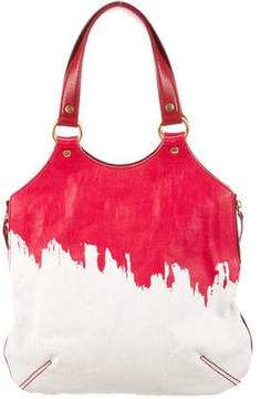 Saint Laurent Raspail Cascade Tribute Tote - RED - STYLE