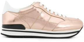 Hogan almond toe lace-up trainers