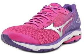 Mizuno Wave Rider 19 Women 2a Round Toe Synthetic Multi Color Running Shoe.