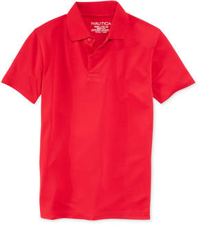 Nautica Boys' Husky Uniform Performance Polo, Husky Boys (8-20)