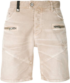 Just Cavalli denim biker shorts