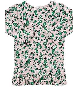 Marni Floral Cotton Fleece Dress