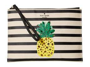 Kate Spade By The Pool Pineapple Medium Bella Pouch Wallet