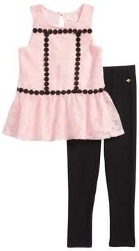 Kate Spade floral mesh tunic & leggings set