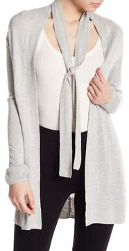 Brochu Walker Jones Neck Tie Hi-Lo Cardigan