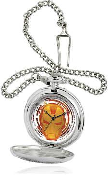 Marvel Iron Man Mens Silver-Tone Pocket Watch