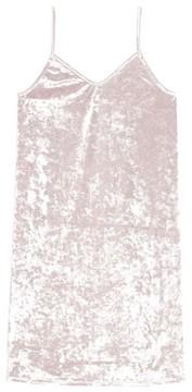Treasure & Bond Girl's Crushed Velvet Cami Dress