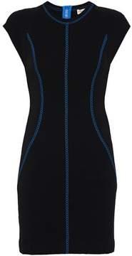 Emilio Pucci Embroidered Stretch-Knit Mini Dress