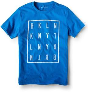 Aeropostale BKLYN Crossword Graphic Tee
