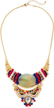 Fragments for Neiman Marcus Beaded Statement Bib Necklace, Multi