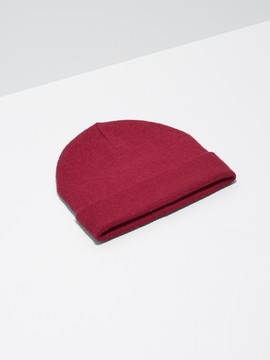 Frank and Oak Lofty Wool Toque in Haute Red
