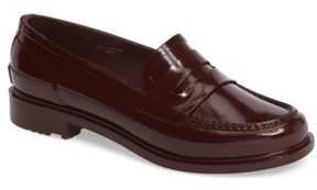 Hunter Women's Waterproof Rubber Penny Loafer