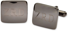 Asstd National Brand Personalized Gunmetal Rounded Rectangle Cuff Links