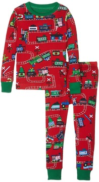 Hatley Holiday Train PJ Set Boy's Pajama Sets