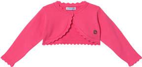 Mayoral Pink Basic Knit Cardigan