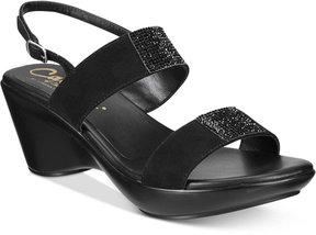 Callisto Minaa Embellished Wedge Sandals Women's Shoes